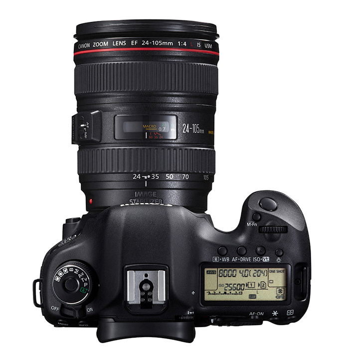 Canon EOS 5D Mark III, вид сверху
