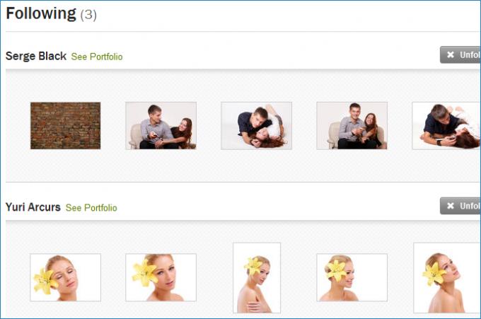 Избранные авторы для покупателей Shutterstock